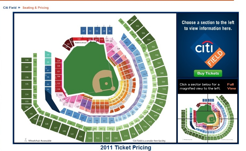 The new 2012 citi field seating chart the mets police