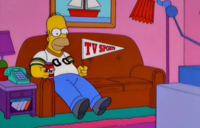 Homer-simpson-tv-sports-pennant
